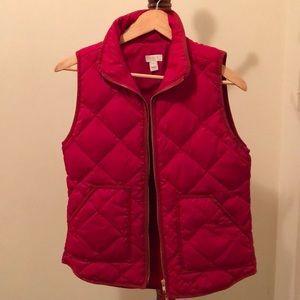 JCrew red puffer vest jacket